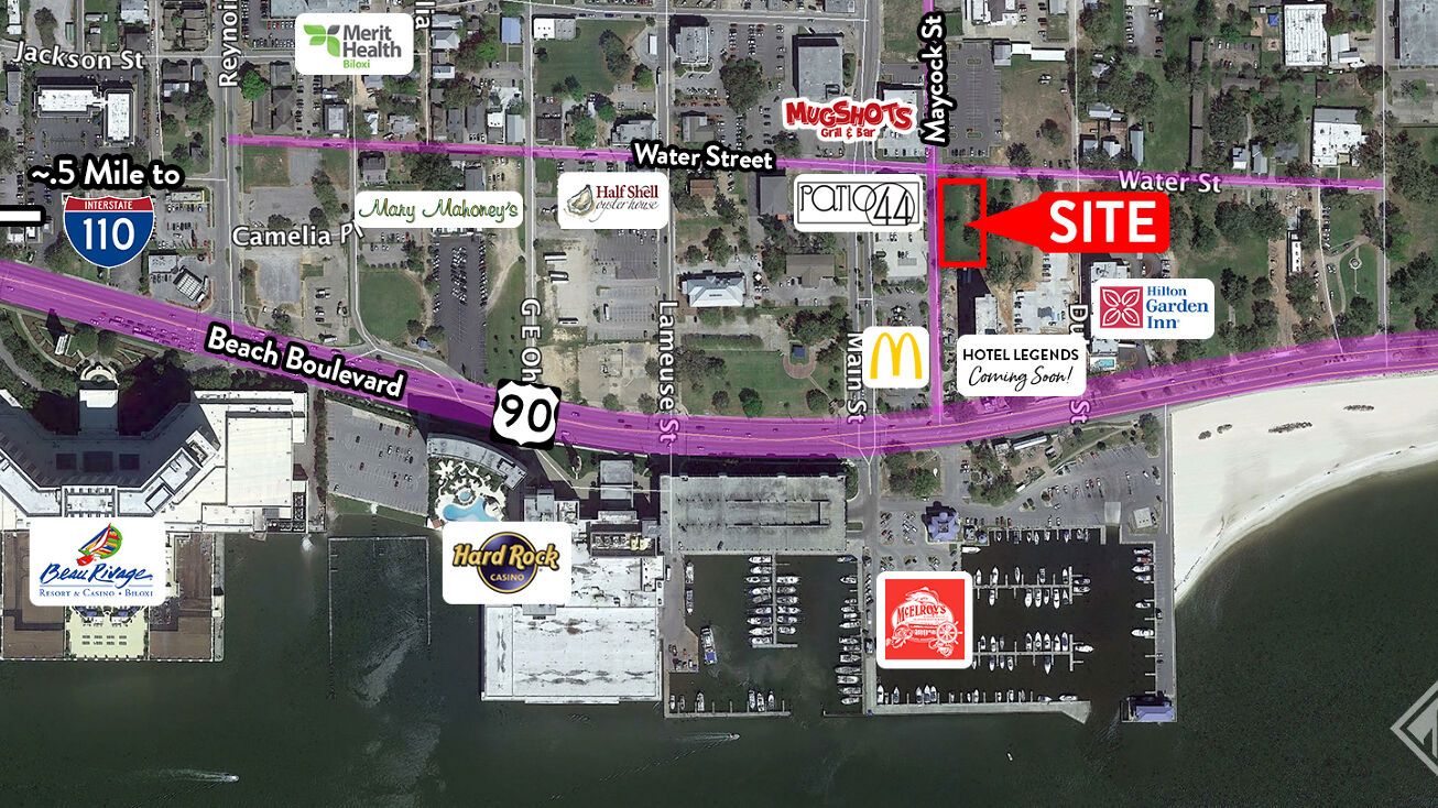 683 Water St Biloxi Ms 39530 Development Site Property For Sale Prime Commercial Lots In Downtown Biloxi