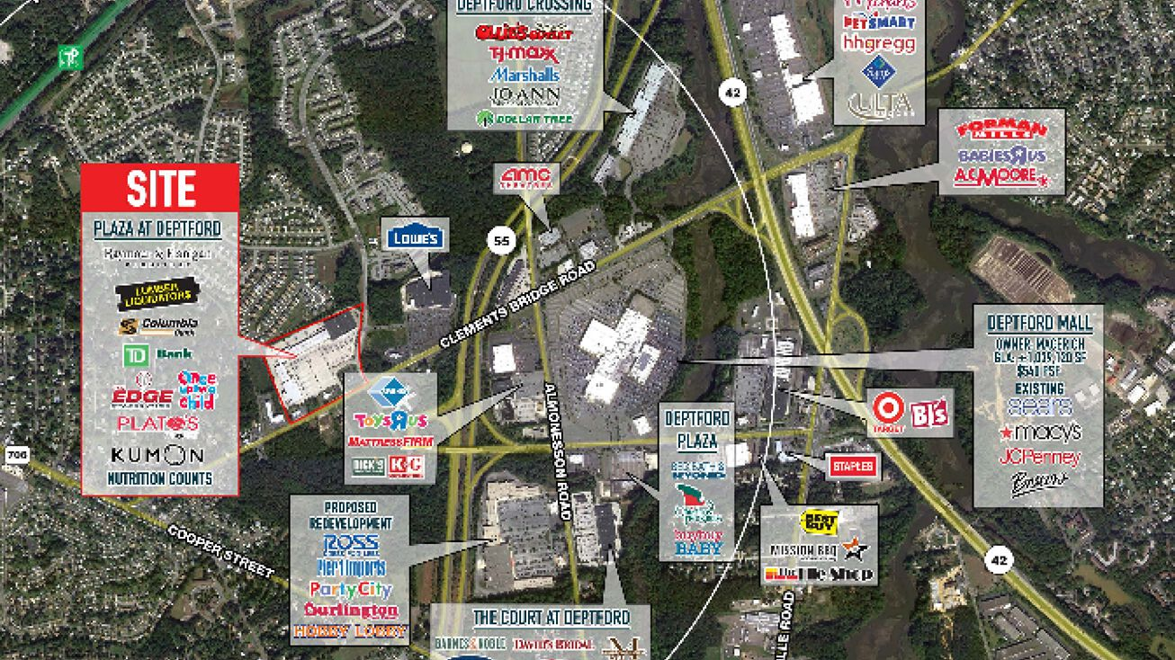 1450 Clements Bridge Road, Deptford, NJ 08096 - Retail Space ... on east brunswick mall map, west town mall map, mesa mall map, alderwood mall directory map, meadowbrook mall map, west county mall map, granite run mall map, ledgewood mall map, moorestown mall map, green tree mall map, mall of louisiana map, voorhees mall map, monmouth mall map, south plains mall directory map, fairgrounds square mall map, annapolis mall store directory map, london mall map, lodi mall map, newark mall map, bloomfield mall map,