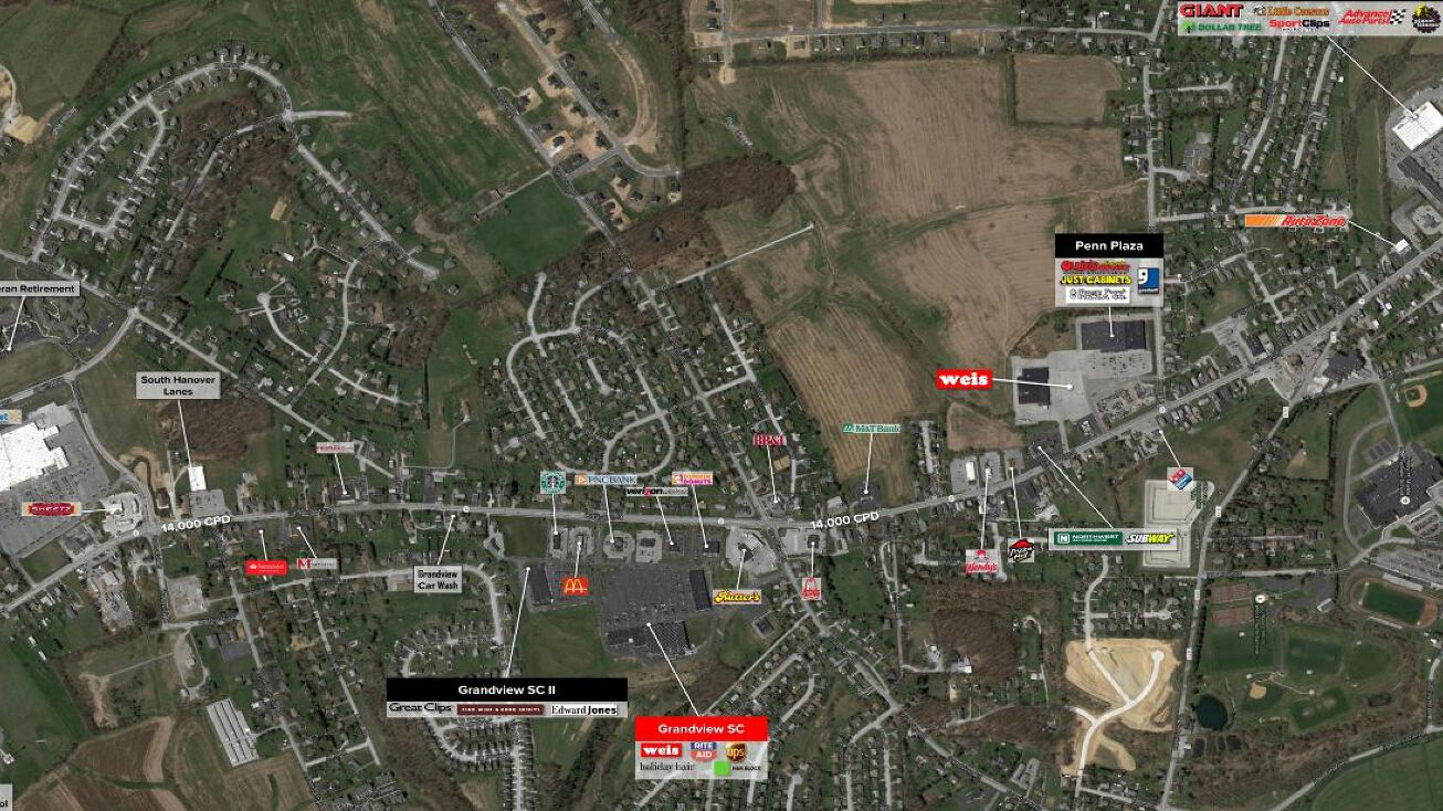 1446 Baltimore Street Hanover Pa 17331 Retail Space For Lease
