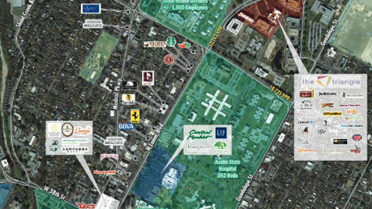 4600–4700 W. Guadalupe Street, AUSTIN, TX 78751 - Retail ... on map of second battle of bull run, map of austin capitol, map of waco va hospital, austin texas state hospital, map of austin independent school district, map of northeast baptist hospital, map of methodist hospital, map san gabriel hosp, map of kansas state fair,
